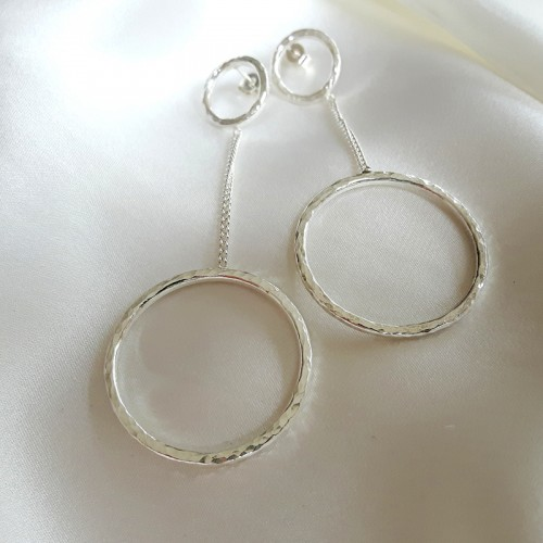 Hammered Circles Earrings 1