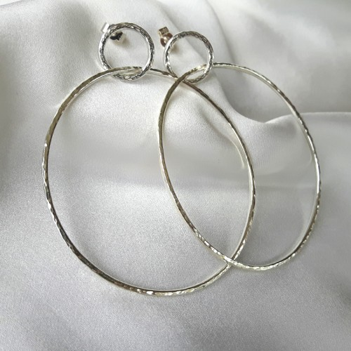 Hammered Circles Earrings 2