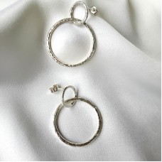 Hammered Circles Earrings 3