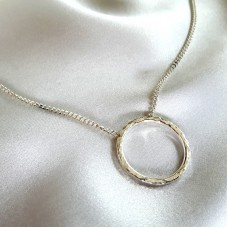 Hammered Circles 2 Necklace