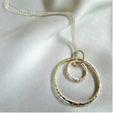 Hammered Circles 3 Necklace