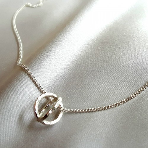 Hammered Circles 5 Necklace